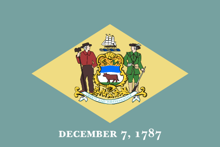 delaware flag graphic