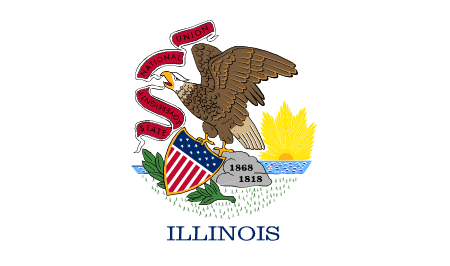 illinois flag graphic