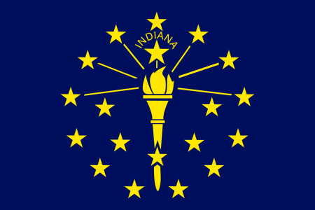 indiana flag graphic