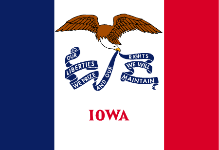 iowa flag graphic