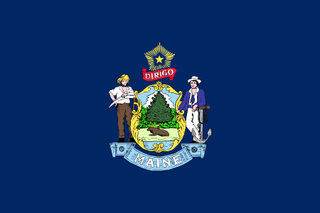 maine flag graphic