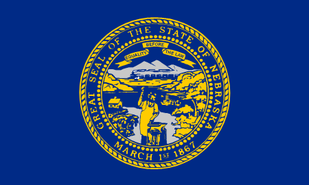nebraska flag graphic