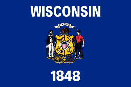 wisconsin flag graphic